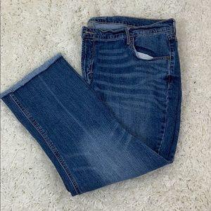Old Navy Blue Denim Crop Flare Jeans Size 20